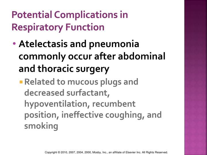 Potential Complications in Respiratory Function