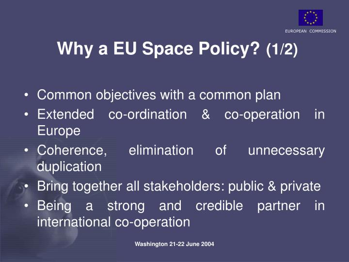 PPT - Space exploration in the context of the European ...