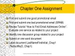 chapter one assignment