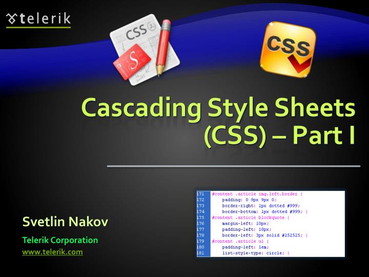 cascading style sheets css part i n.