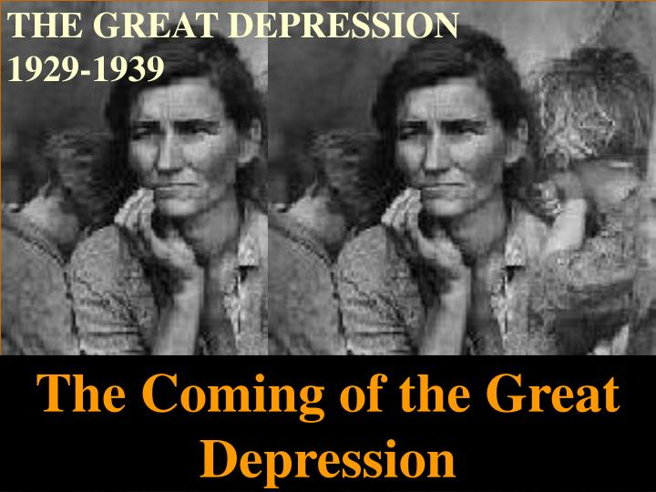 the great depression 1929 1939 n.