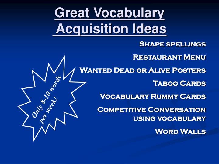 Great Vocabulary
