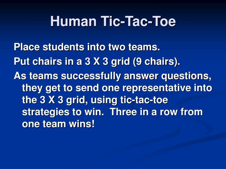 Human Tic-Tac-Toe