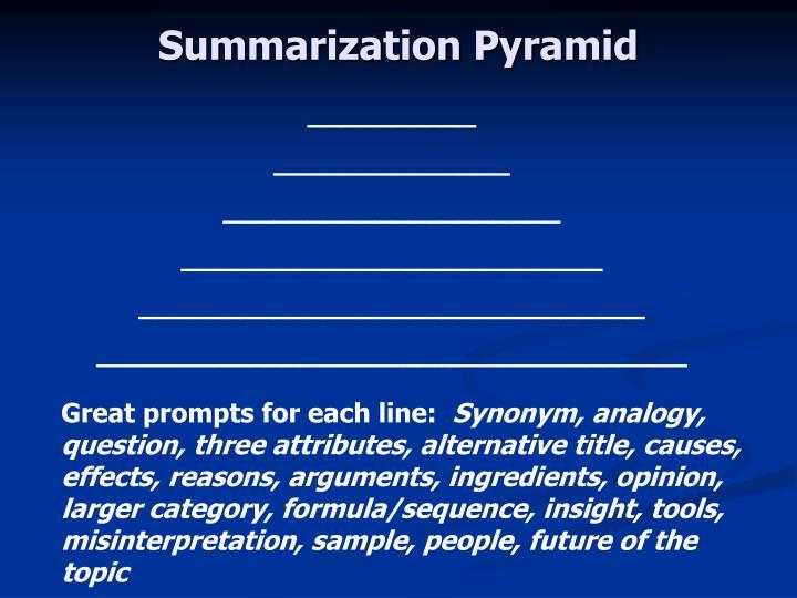 Summarization Pyramid