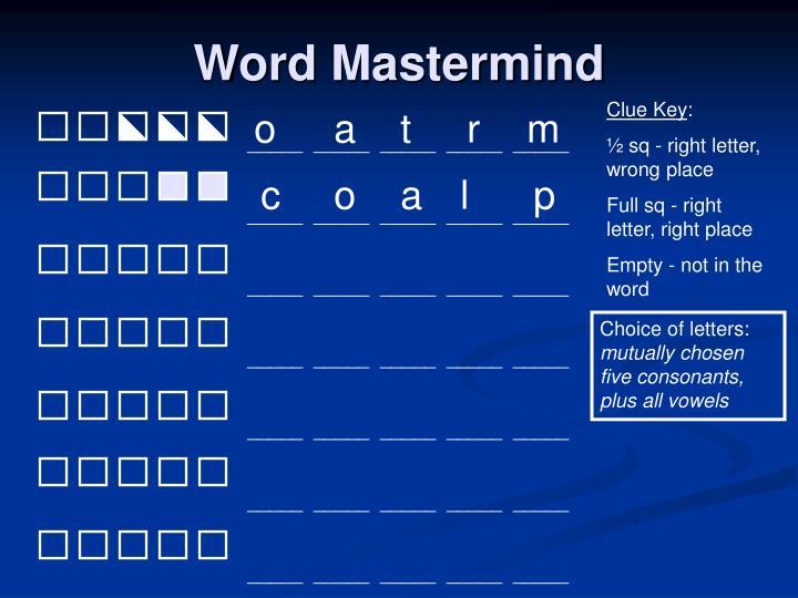 Word Mastermind