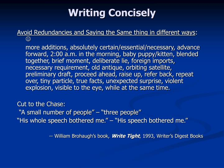 Writing Concisely