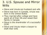 3 u s spouse and mirror wills