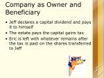 company as owner and beneficiary1