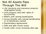 not all assets pass through the will