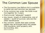 the common law spouse