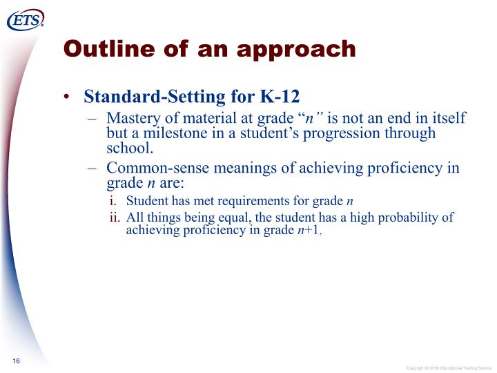 Outline of an approach