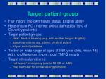 target patient group