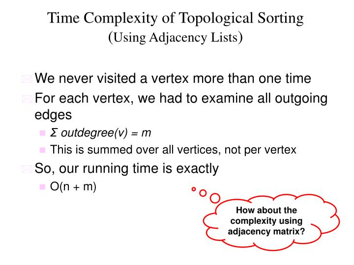Time Complexity of Topological Sorting