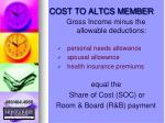 cost to altcs member