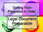 getting your paperwork in order
