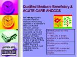 qualified medicare beneficiary acute care ahcccs