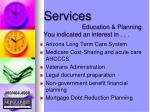 services education planning you indicated an interest in