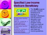 specified low income medicare beneficiary