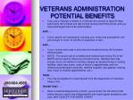 veterans administration potential benefits