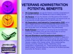 veterans administration potential benefits1
