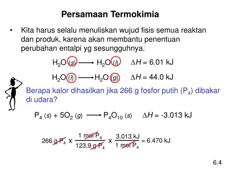 Berapa kalor dihasilkan jika 266 g fosfor putih (P