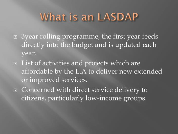 What is an LASDAP