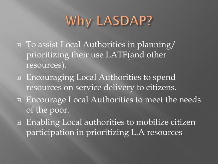 Why LASDAP?