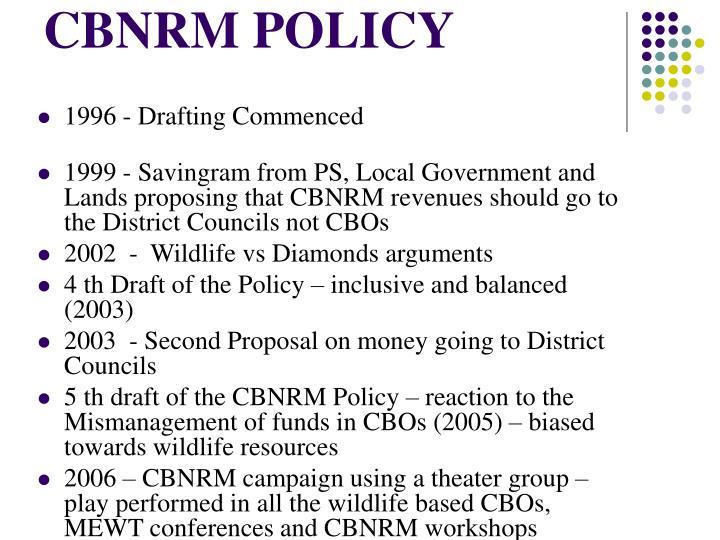 Cbnrm policy