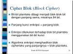 cipher blok block cipher
