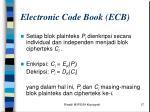 electronic code book ecb