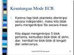 keuntungan mode ecb