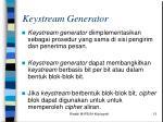 keystream generator