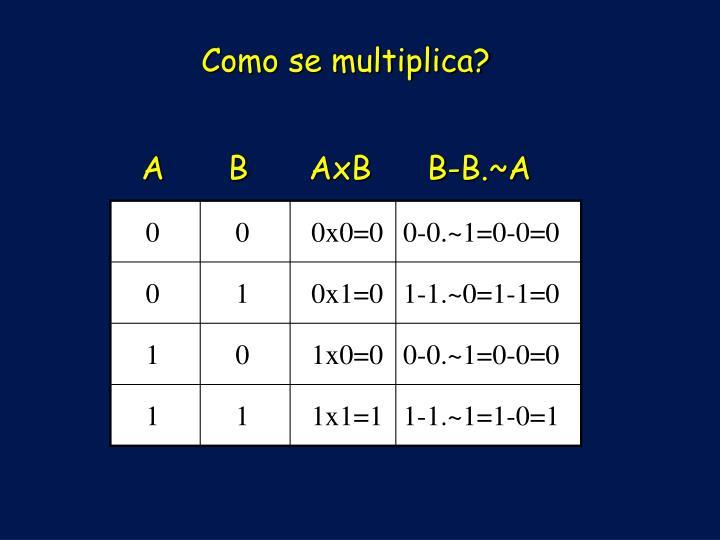 Como se multiplica?
