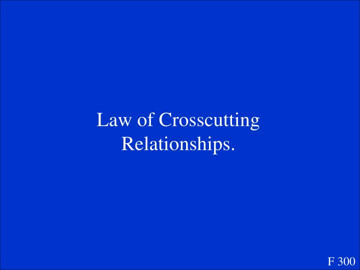 Law of Crosscutting Relationships.