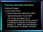 financing secondary education