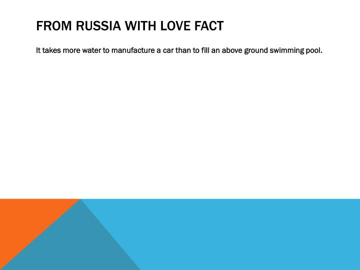 FROM RUSSIA WITH LOVE FACT