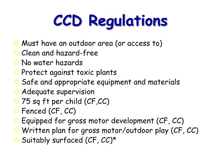Ccd regulations