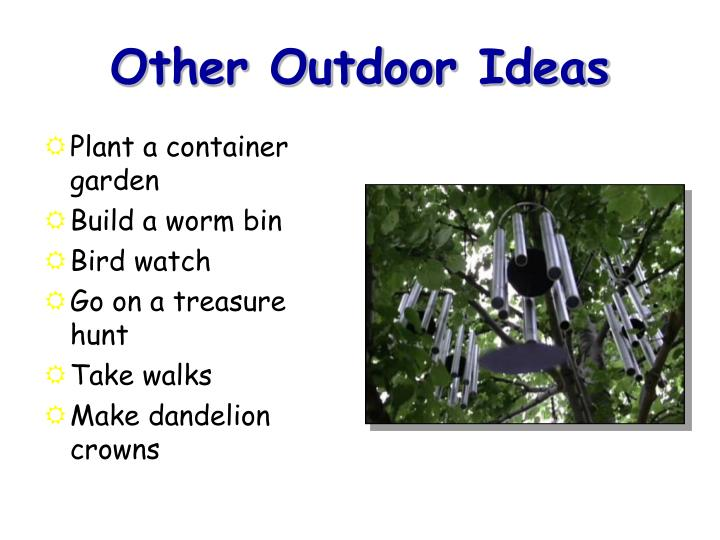 Other Outdoor Ideas