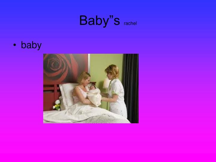 """Baby""""s"""