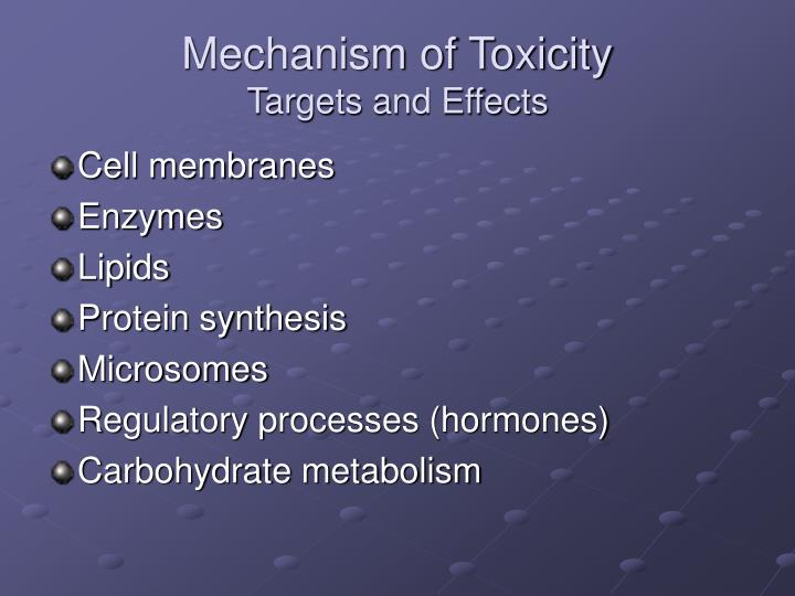 Mechanism of Toxicity