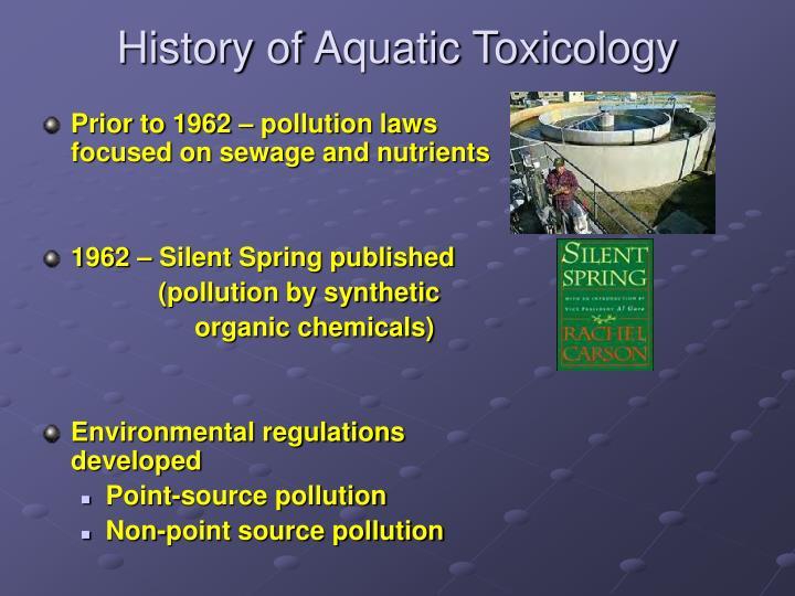 History of Aquatic Toxicology