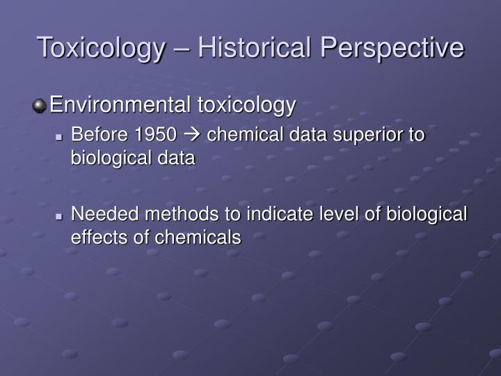 Toxicology – Historical Perspective