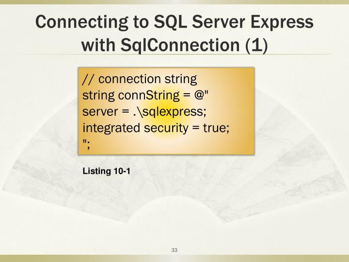 Connecting to SQL Server Express with SqlConnection (1)