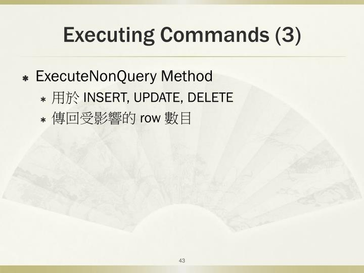 Executing Commands (3)
