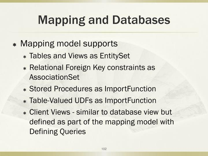 Mapping and Databases