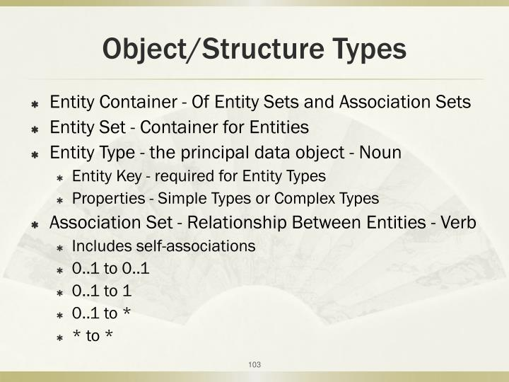Object/Structure Types