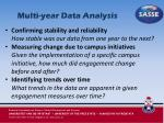 multi year data analysis