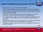 some preliminary results 2010