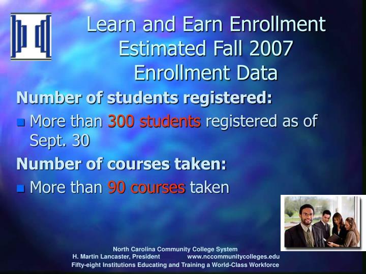 Learn and Earn Enrollment