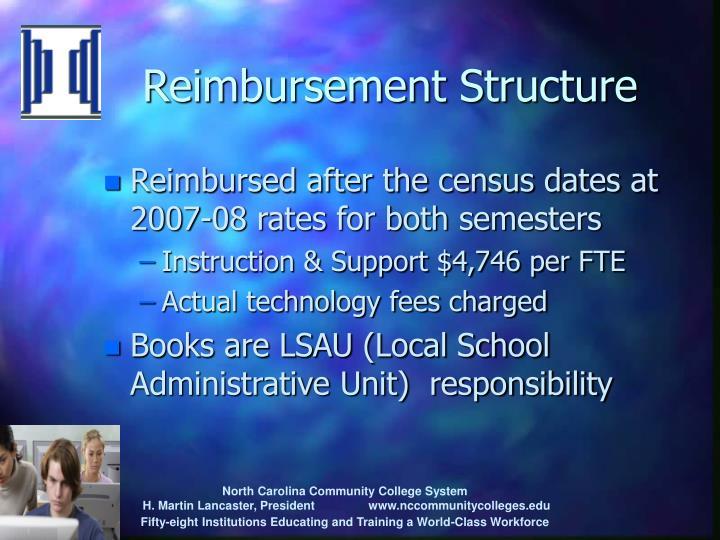 Reimbursement Structure